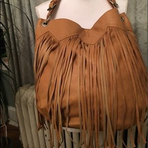 Large fringed handbag